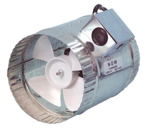 Hurricane Inline Duct Booster 6 in 160 CFM