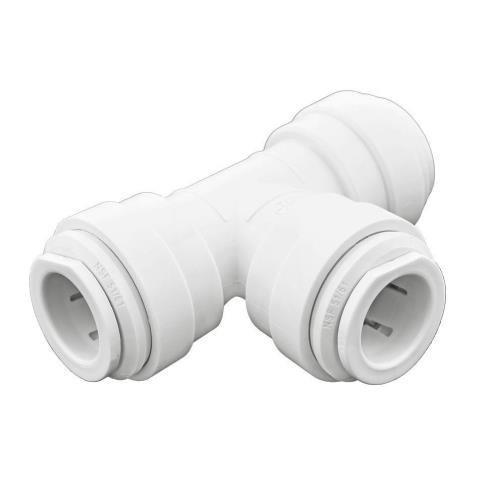 Ideal H2O JG Quick Connect Fitting - Tee - 1/2 in - White Bag of 10