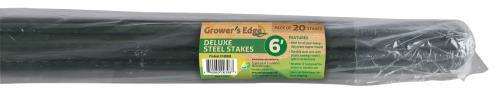 Grower's Edge Deluxe Steel Stake 6 ft Bag of 20