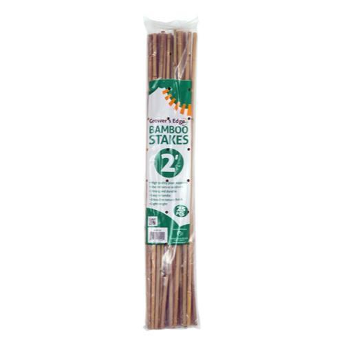 Grower's Edge Natural Bamboo 2 ft (25/Bag)