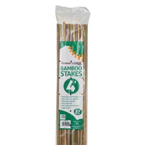 Grower's Edge Natural Bamboo 4 ft (25/Bag)