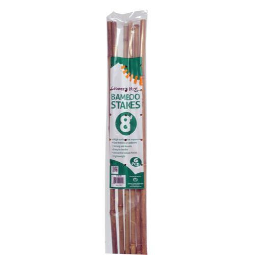Grower's Edge Natural Bamboo 8 ft (6/Bag)
