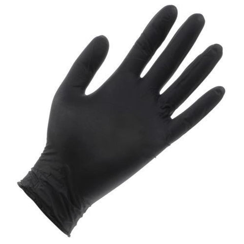 Black Lightning Powder Free Nitrile Gloves Large (100/Box)