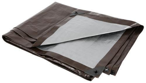 Grower's Edge Heavy Duty Brown / Silver Tarp 10 ft x 10 ft
