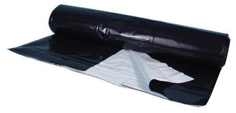 Black/White Poly Sheeting Commercial Size - 5 mil 24 ft x 150 ft