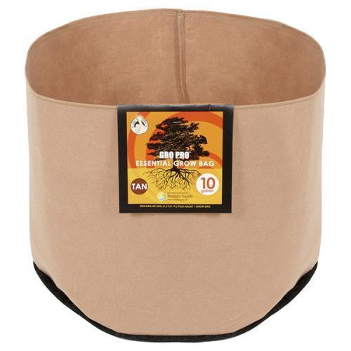 Gro Pro Essential Round Fabric Pot-Tan 200 Gallon
