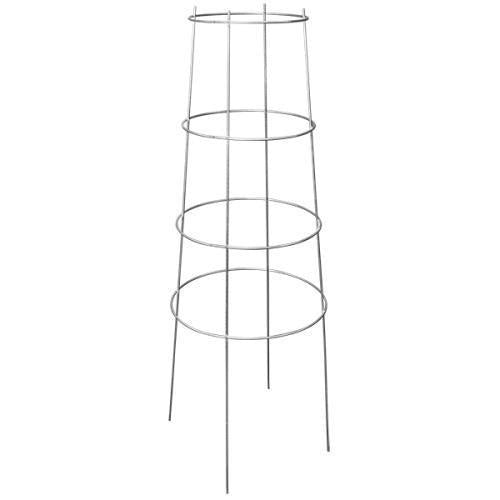 Grower's Edge High Stakes Commercial Grade Inverted Tomato Cage - 4 Ring - 62 in