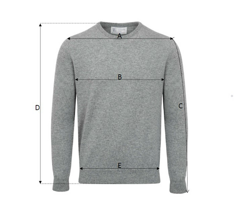 Johnstons Cashmere - Mens Sweaters Size Guide at The Cashmere Choice | Shop for Londons Finest Cashmere