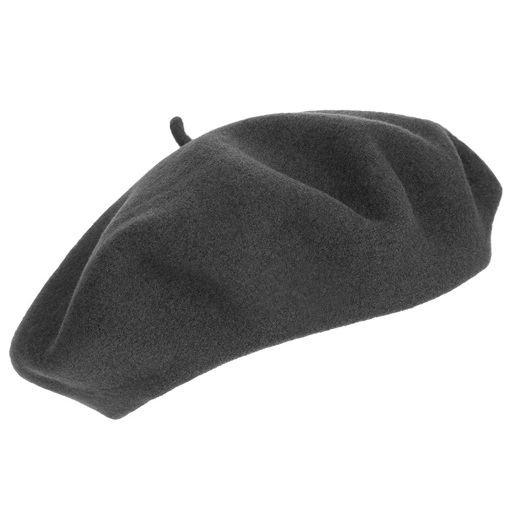 313e8bae ... Charcoal Grey French Beret | Wool Beret| buy now at The Cashmere Choice  London ...