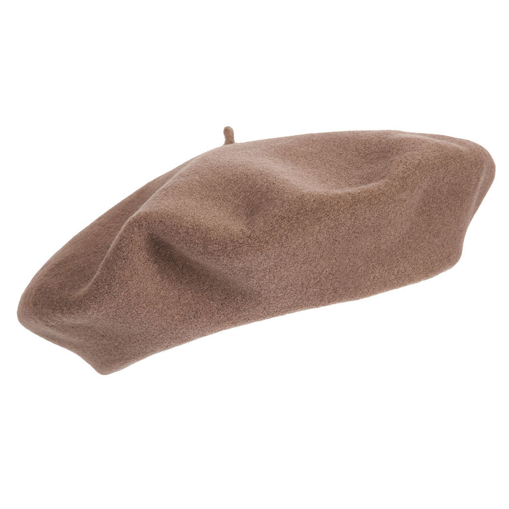 d3eb7161 ... Light Brown French Beret | Wool Beret| buy now at The Cashmere Choice  London ...