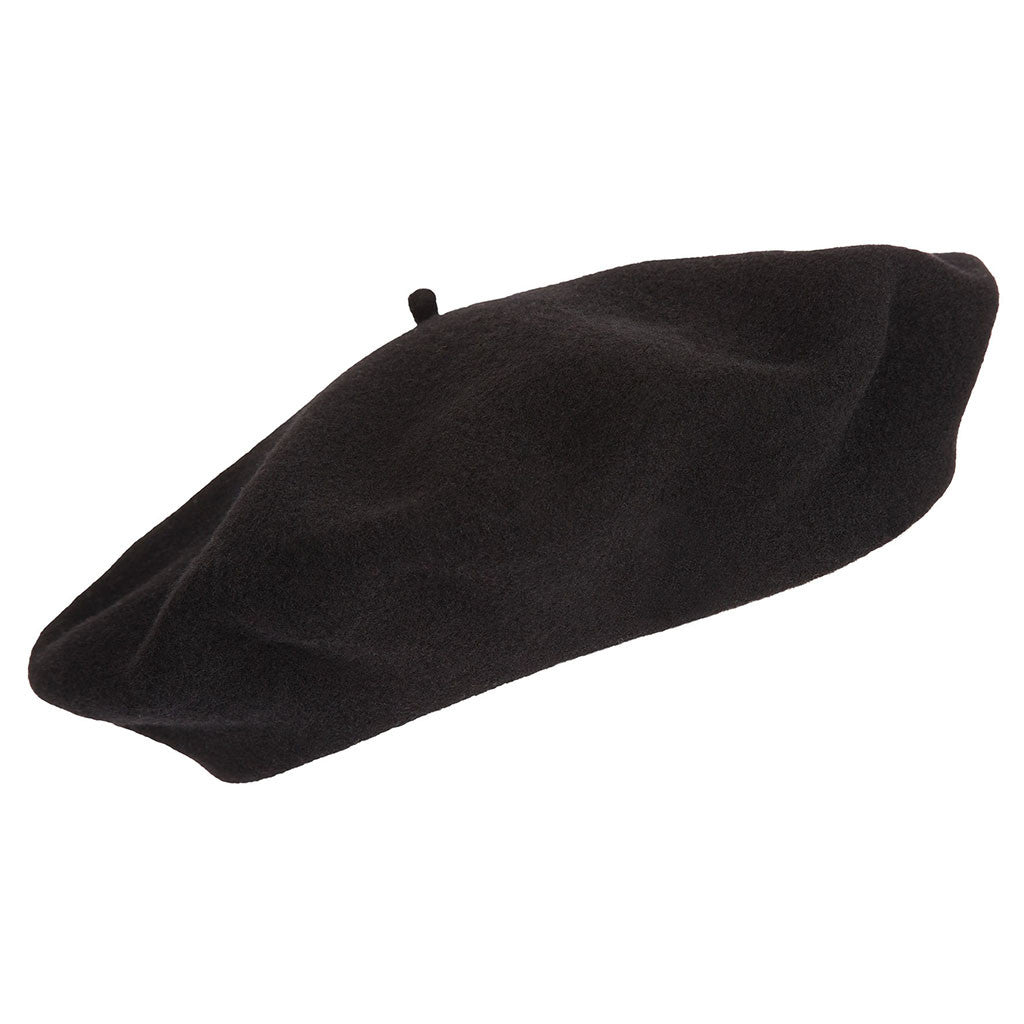 Black French Beret | Wool Beret| buy now at The Cashmere Choice London