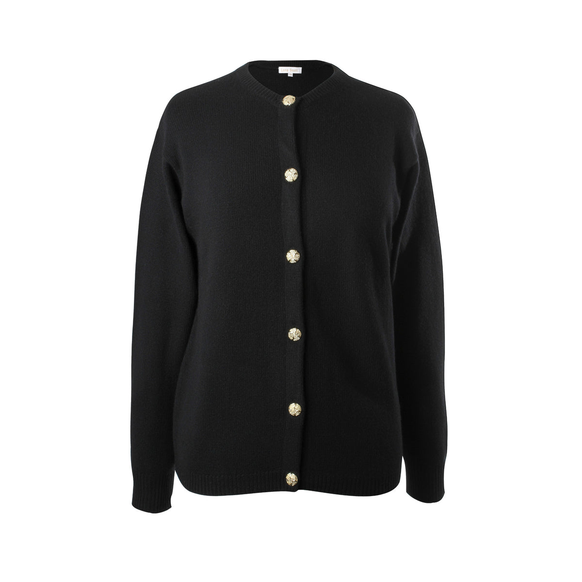 Ladies 3-Ply Cashmere Cardigan | Black | Shop at The Cashmere Choice | London