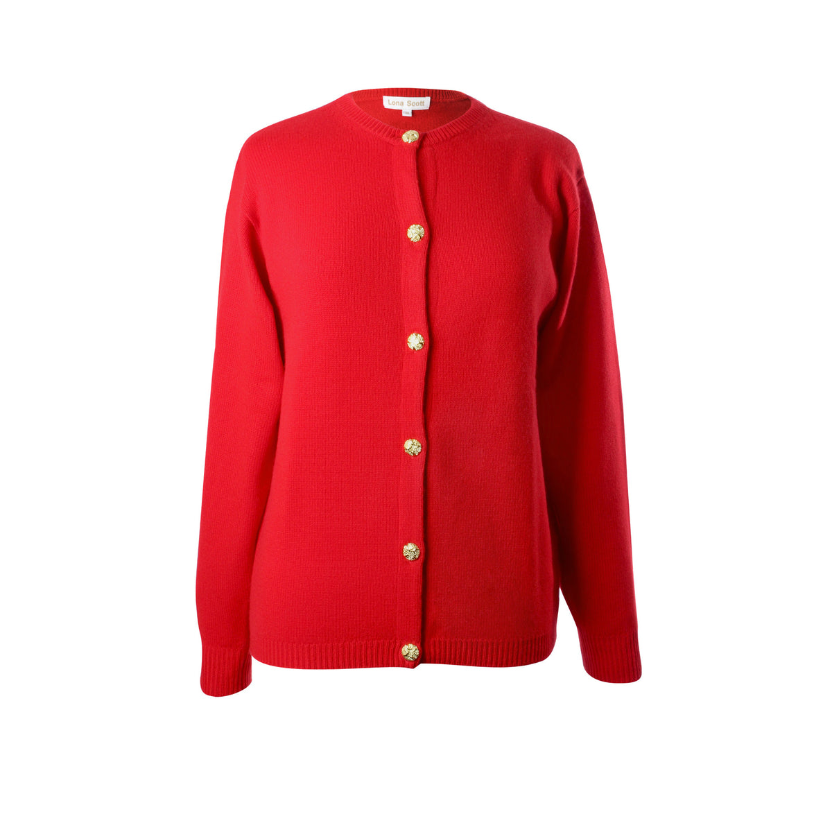 Ladies 3-Ply Cashmere Cardigan | Red | Shop at The Cashmere Choice | London