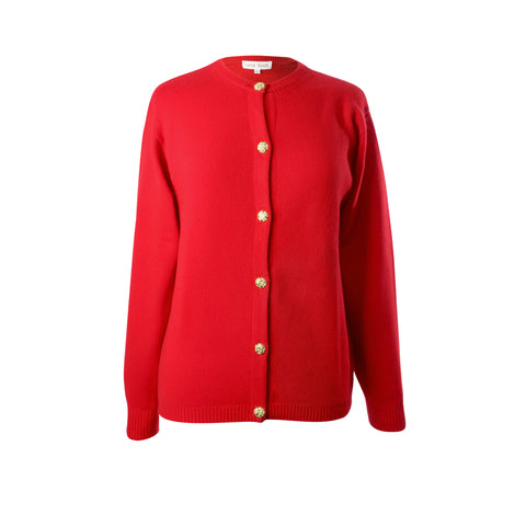 Ladies Red Cashmere Sweater | Cardigan | The Cashmere Choice London