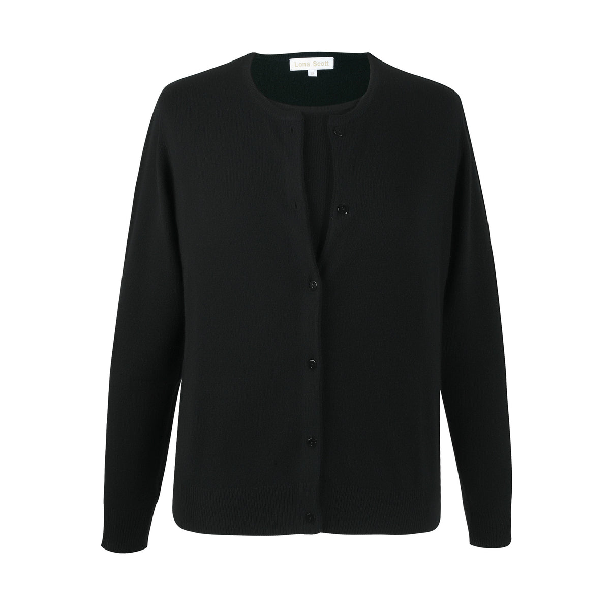 Ladies Black Cashmere Sweater Set | Cardigan | The Cashmere Choice London