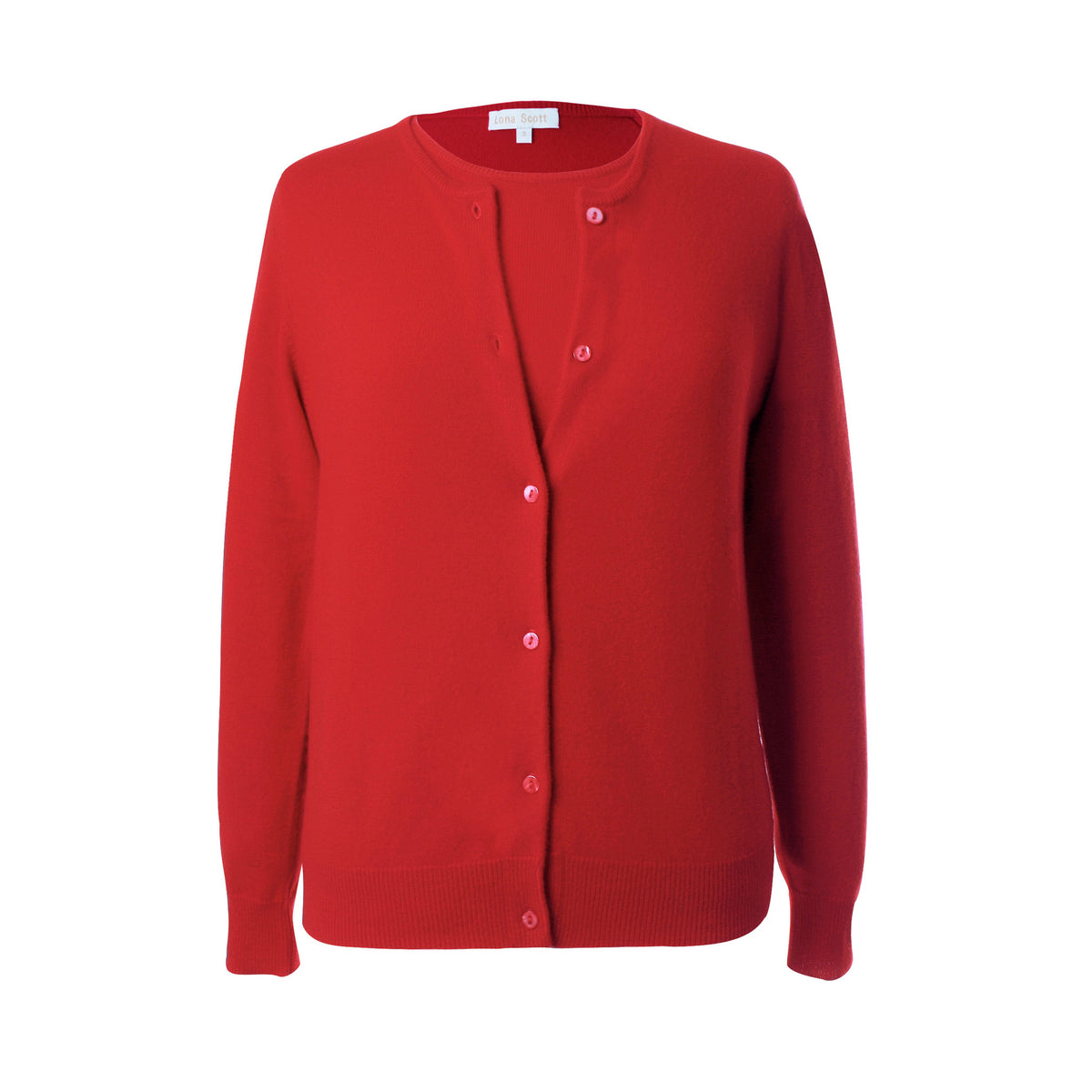 Ladies Red Cashmere Sweater Set | Cardigan | The Cashmere Choice London