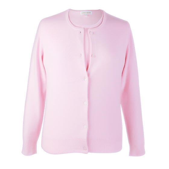 Ladies Pink Cashmere Sweater Set | Cardigan | The Cashmere Choice London