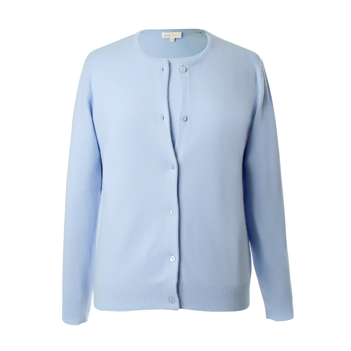 Ladies Sky Blue Cashmere Sweater Set | Cardigan | The Cashmere Choice London