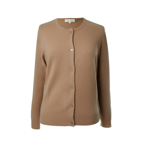 Ladies Camel Cashmere Sweater | Cardigan | The Cashmere Choice London