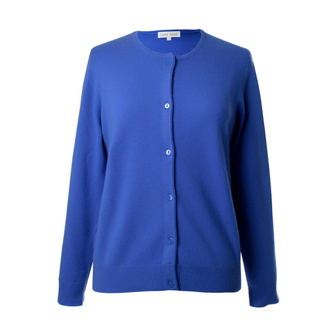 Ladies Blue Cashmere Sweater | Cardigan | The Cashmere Choice London