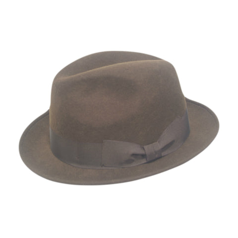 Brown Trilby Hat by City Sport | buy now at The Cashmere Choice London