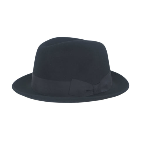 Black Trilby Hat by City Sport | buy now at The Cashmere Choice London