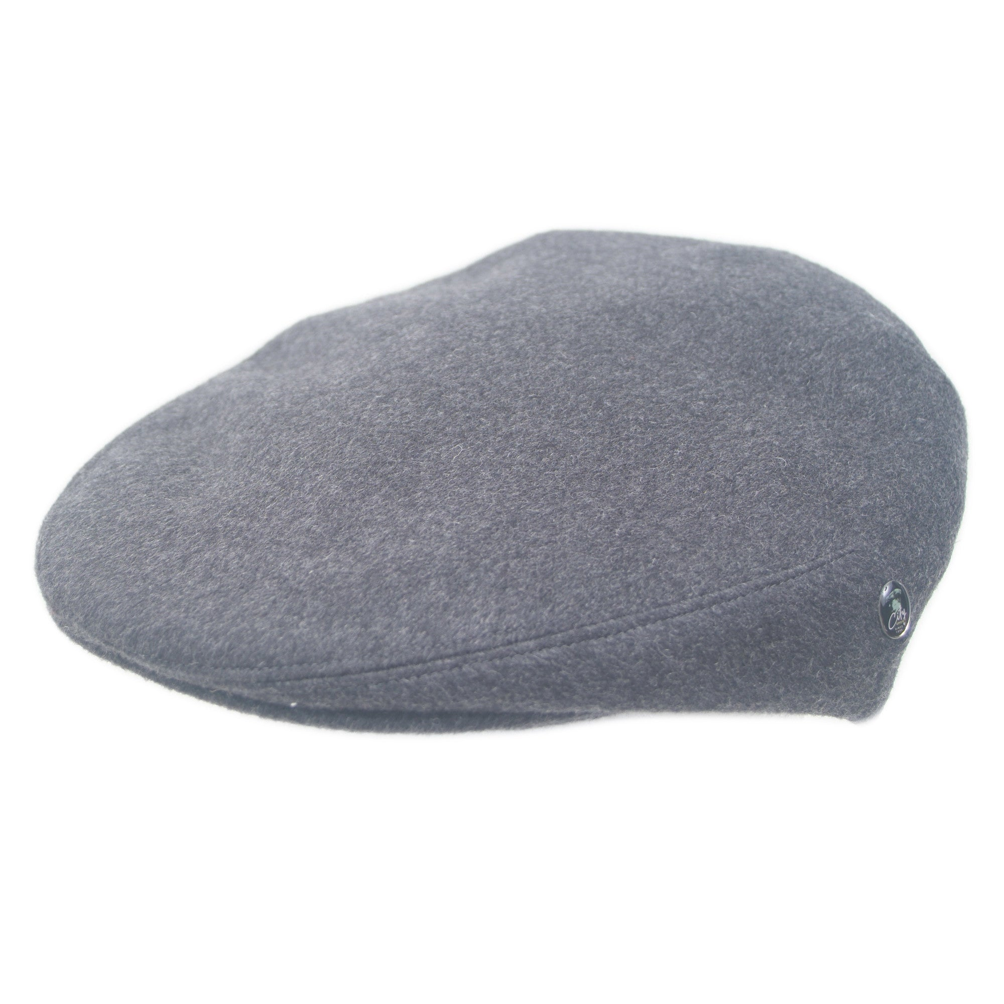Charcoal Grey Mens Flat Cap | Pure Cashmere | by City Sport | buy now at The Cashmere Choice London