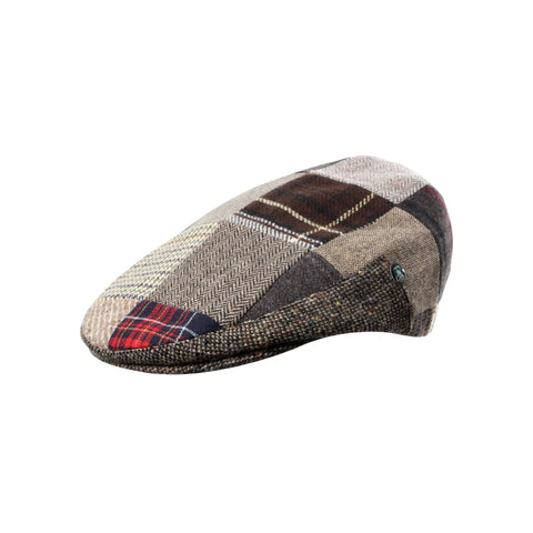 Unique Brown Patch Flat Cap | buy now at The Cashmere Choice London