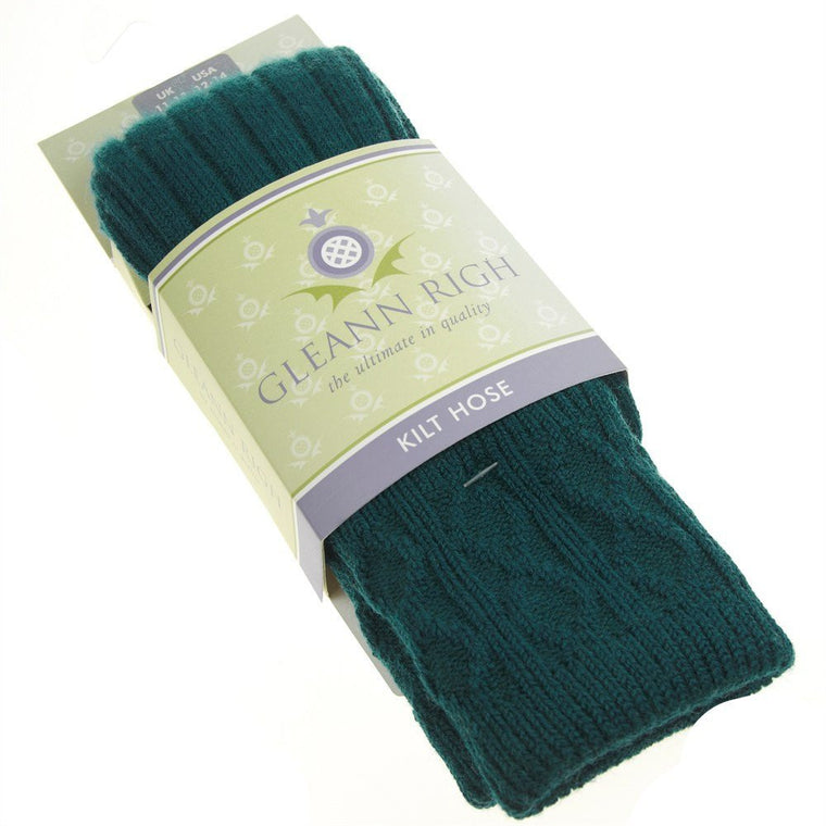 Green Kilt Hose Made in Scotland | buy now at The Cashmere Choice London