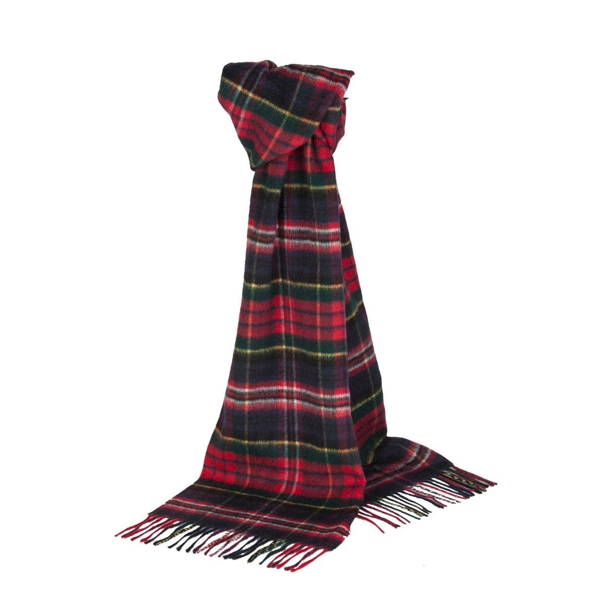 Johnsons of Elgin | Macpherson Tartan Check Cashmere Scarf | buy at The Cashmere Choice | London