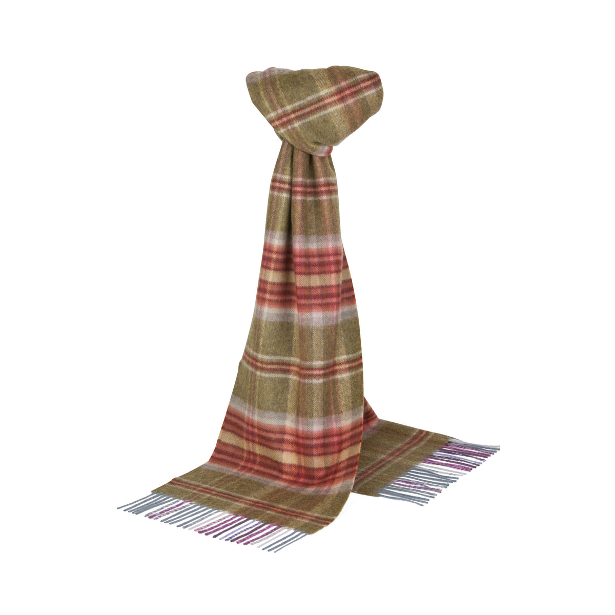 Johnsons of Elgin | Balbeg Tartan Check Cashmere Scarf | buy at The Cashmere Choice | London