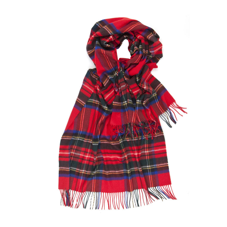 Johnsons of Elgin | Royal Stewart Tartan Cashmere Stole Large Scarf | buy at The Cashmere Choice | London