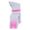 Grey Ladies Cashmere Socks | Knee Hight Socks | buy now at The Cashmere Choice London