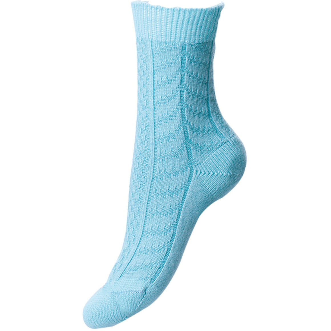 Aqua Blue Ladies Cashmere Socks | Ankle Sock | buy now at The Cashmere Choice London