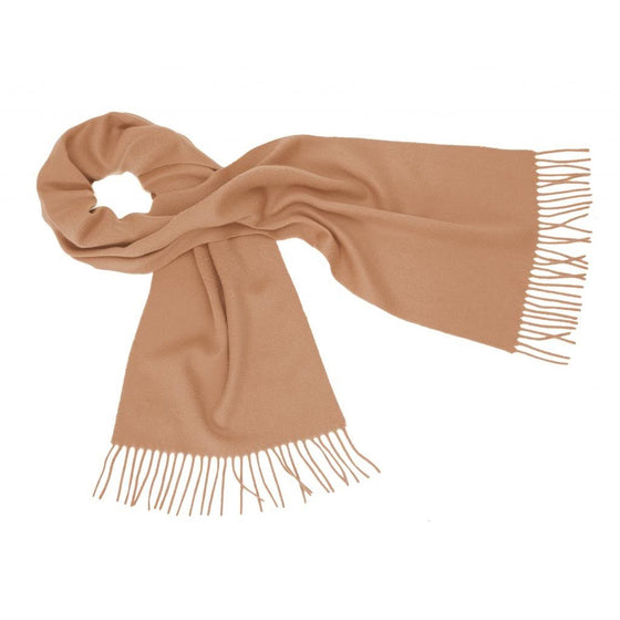 Camel Cashmere Scarf | buy at The Cashmere Choice | London
