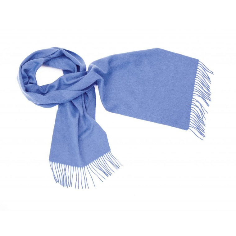 Cornflower Blue Cashmere Scarf | buy at The Cashmere Choice | London