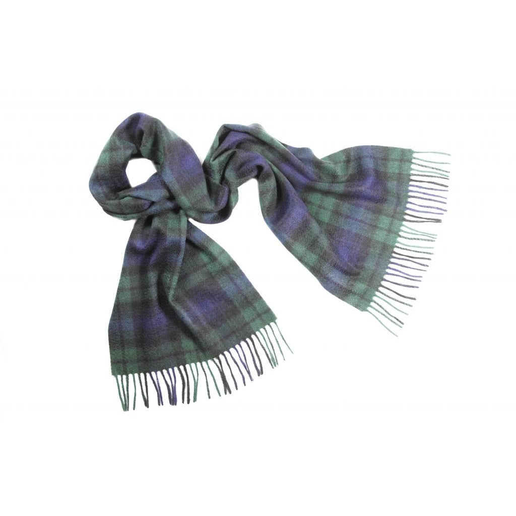 Black Watch Tartan Cashmere Scarf | buy at The Cashmere Choice | London