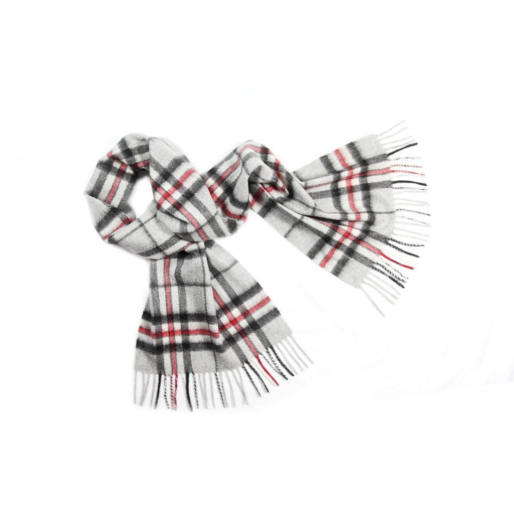 Grey Thompson Tartan Cashmere Scarf | buy at The Cashmere Choice | London