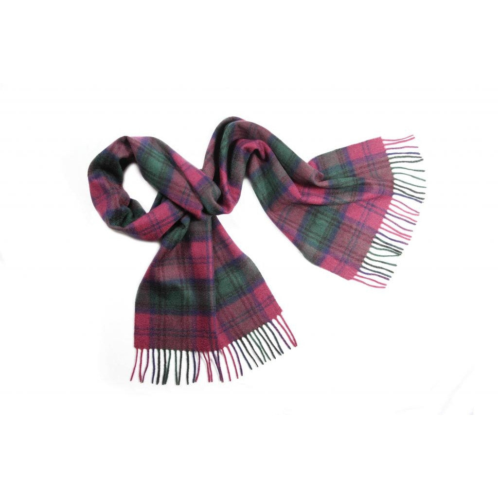 Lindsay Tartan Cashmere Scarf | buy at The Cashmere Choice | London