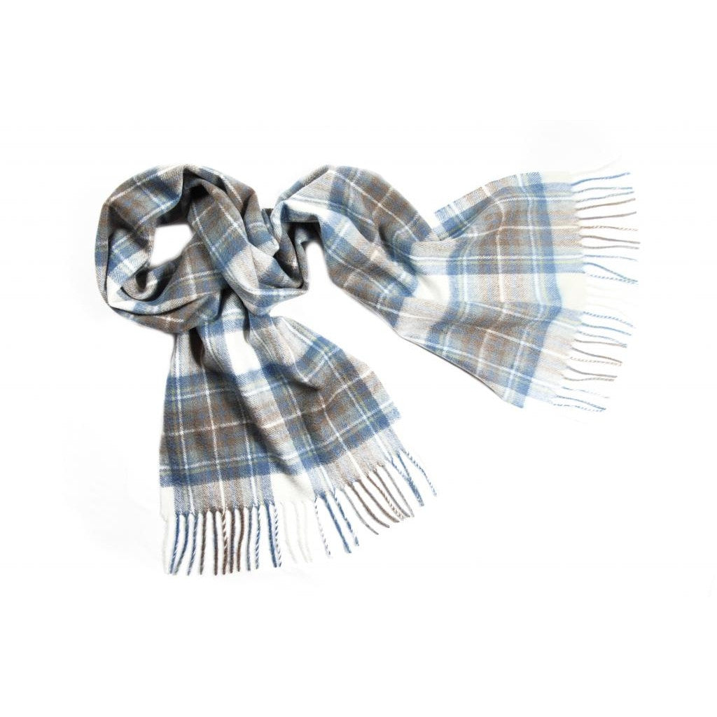 Blue Stewart Tartan Cashmere Scarf | buy at The Cashmere Choice | London