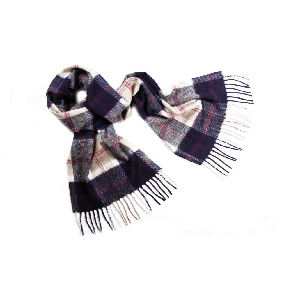 Navy Bannockbane Tartan Cashmere Scarf | buy at The Cashmere Choice | London