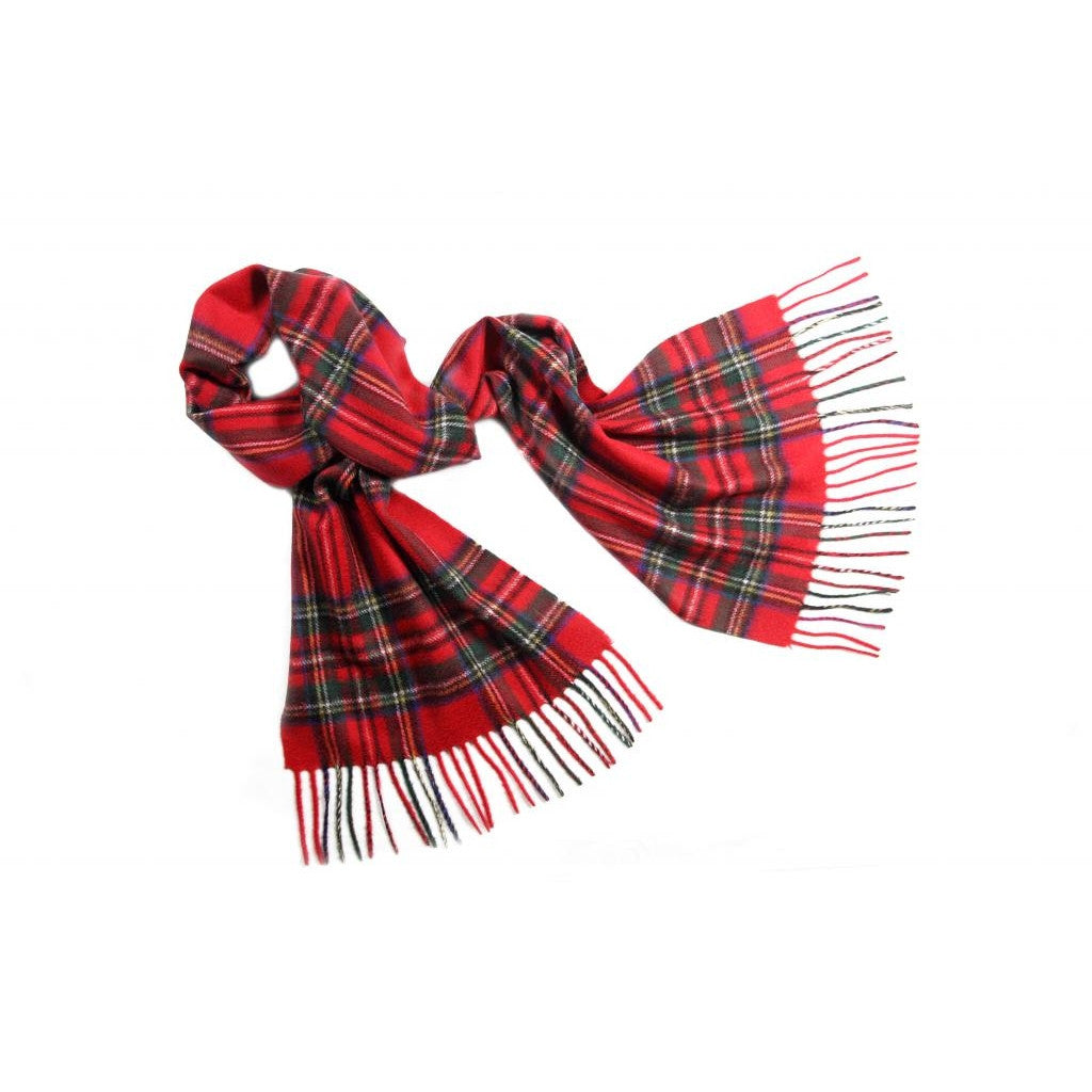 Royal Stewart Tartan Cashmere Scarf | buy at The Cashmere Choice | London