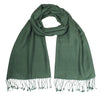 Dark Green Pashsmina Stole | buy now at The Cashmere Choice London