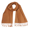 Caramel | Toffee | Brown Pashsmina Stole | buy now at The Cashmere Choice London