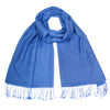 Blue Pashsmina Stole | buy now at The Cashmere Choice London