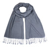 Medium Grey Pashsmina Stole | buy now at The Cashmere Choice London