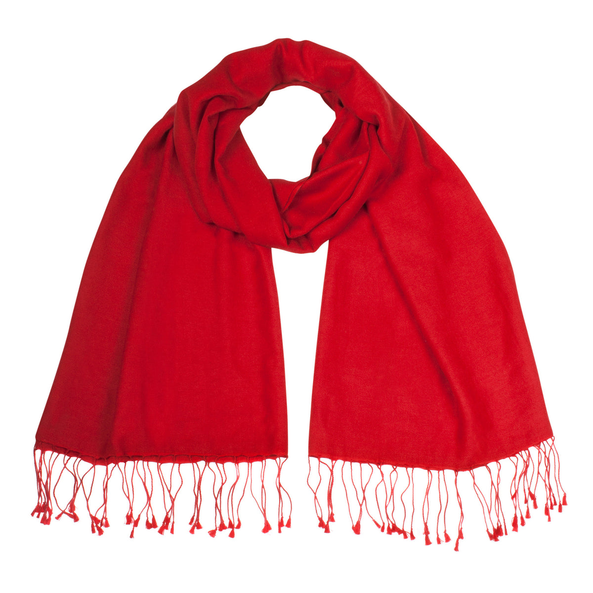 Red Pashsmina Stole | buy now at The Cashmere Choice London