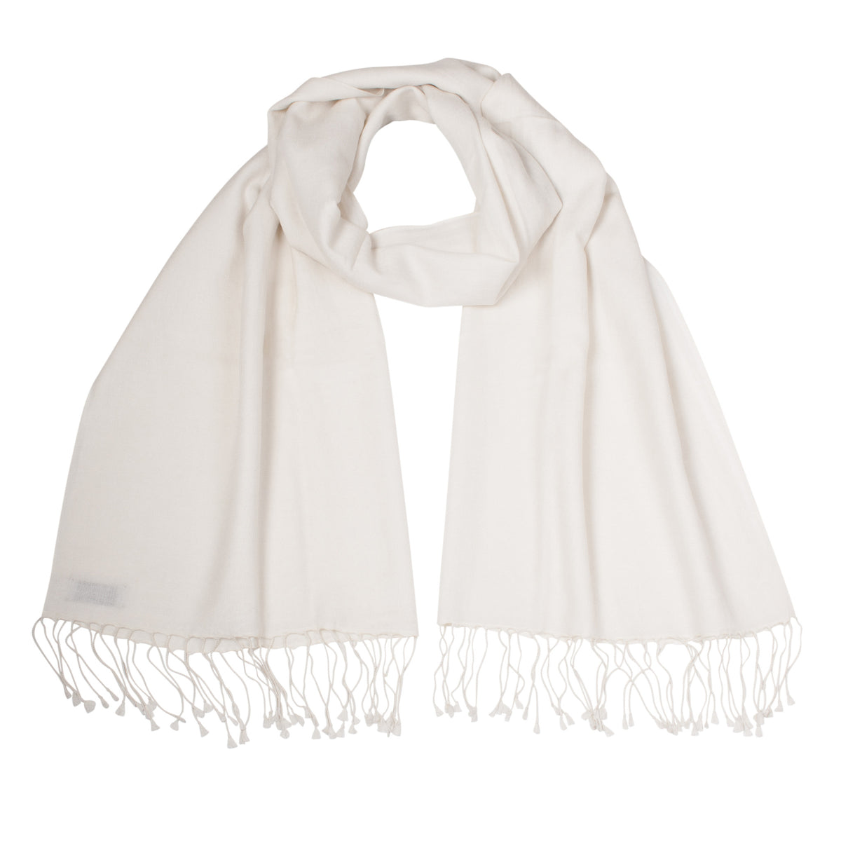Cream | Off White Pashsmina Stole | buy now at The Cashmere Choice London