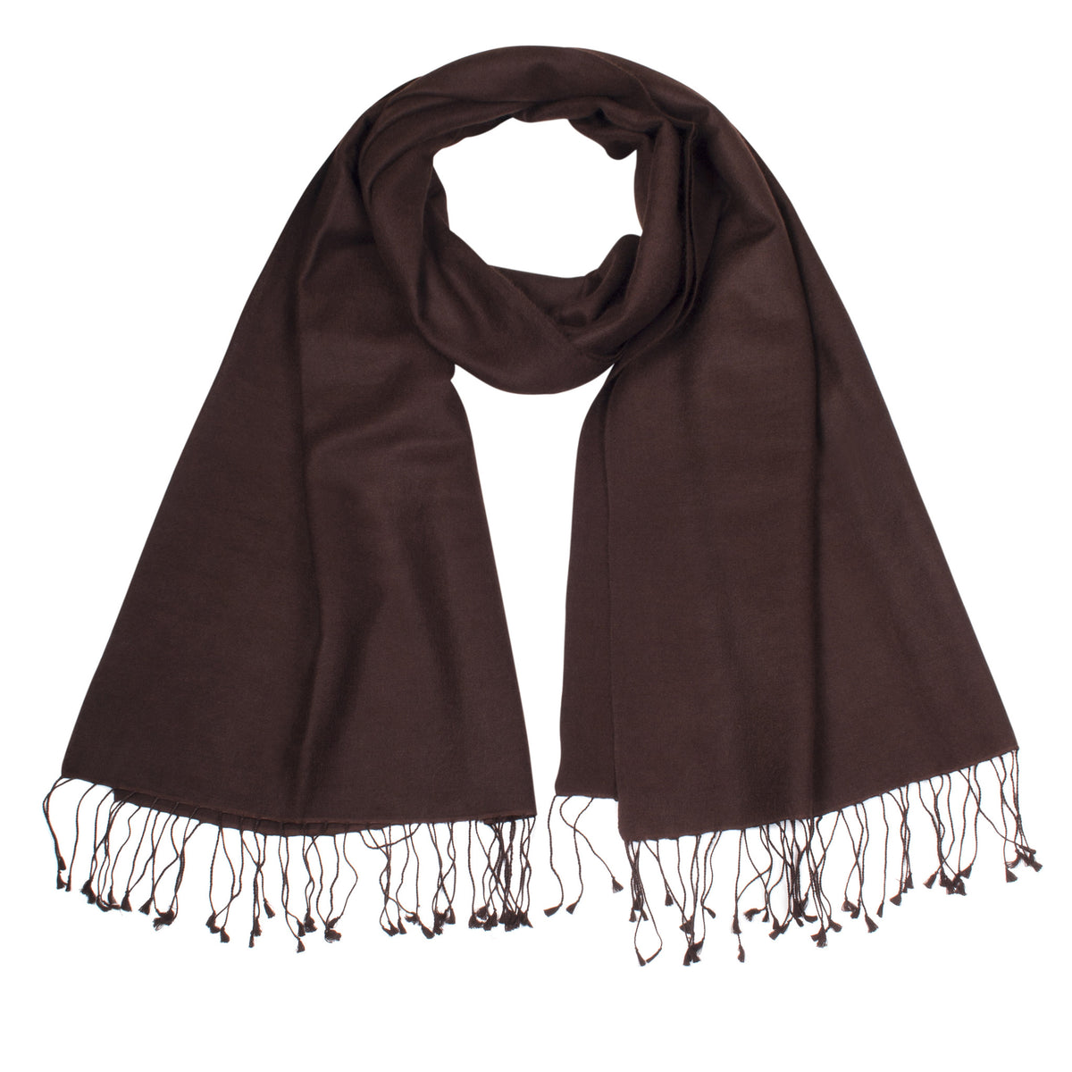 Chocolate| Brown Pashsmina Stole | buy now at The Cashmere Choice London