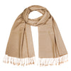 Camel | Beige Pashsmina Stole | buy now at The Cashmere Choice London